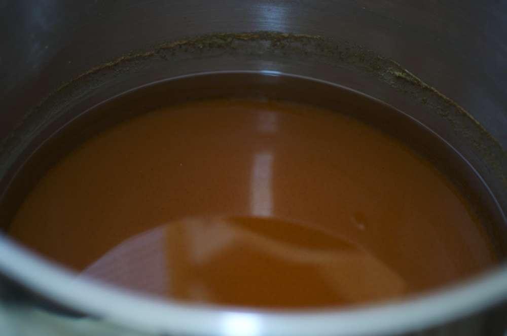 Clear post boil break